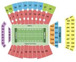 Liberty Football Seating Chart Lane Stadium Seating Chart Blacksburg