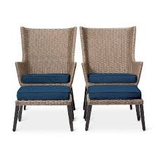 small porch furniture. wicker patio conversation seating set navy threshold small porch furniture