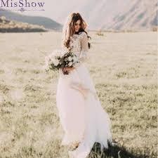 Stylish Ivory Long Wedding Dress Sexy White Wedding Gowns For Women Lace  Illusion Back Chiffon A Line Lady Bridal Dresses| | - AliExpress