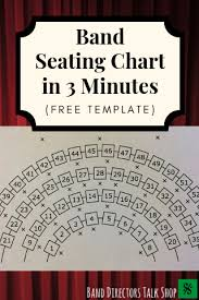 Band Seating Chart In 3 Minutes Free Template Band