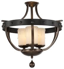 reclaimed lighting. savoy house alsace 3light semi flush reclaimed wood industrialflushmount lighting e