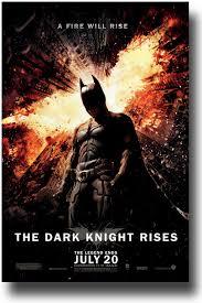 Movie Flyer Dark Knight Rises Poster 24×24 BatMan Standing Under Falling 10