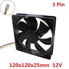 <b>10pcs</b>/<b>lot</b> 120x120x25mm <b>12025</b> Brushless fans cooling fan DC <b>12V</b> ...