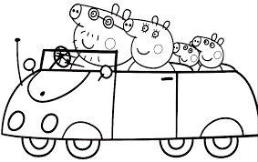 pepper pig colouring free printable coloring peppa pig coloring