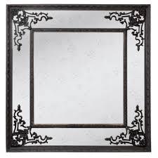 Square Ornate Black Mirror Allissias Attic