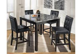 dining room table height. black maysville counter height dining room table and bar stools (set of 5) view