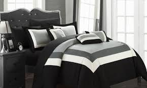 groupon bedroom in a bag. 10-piece danny color block comforter set with sheets included: groupon bedroom in a bag