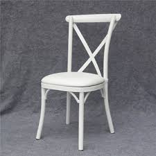Aluminum cross back white wedding chair YC-A68 Cross Back White Wedding Chair Yc-a68 - Buy