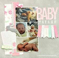 Baby Girl Scrapbook Ideas Page Birth Layout Stevesroofing