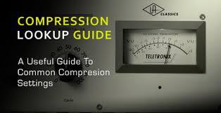 Compression Quicklook Guide A Useful Table Of Compressor