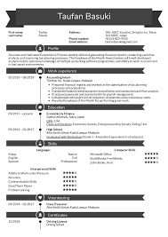Resume Examples By Real People Accounting Intern Resume