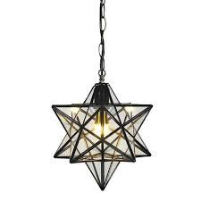 Glass Star Light Clear Glass Star Pendant Light Retro Style