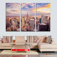 3 pieces new york city picture canvas painting modern wall art picture for living room decorative city landscape canvas picture