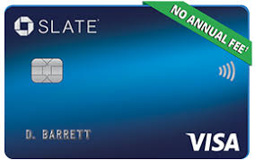 chase slate registered trademark credit card no annual fee dagger