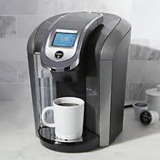 free shipping kitchen keurig  k coffee maker system white kitchen cart credit crateandbarrelcom