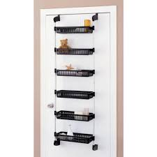 details about over the door basket shelf closet pantry storage kitchen rack bathroom organizer