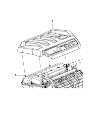 engine cover related parts for 2012 chrysler 200 2012 chrysler 200 engine cover related parts diagram i2280021