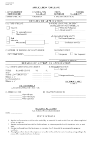 Application For Leave Form Mesmerizing Form 48leaveapplicationform