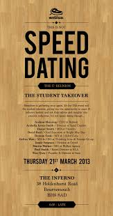 student speed dating manchester
