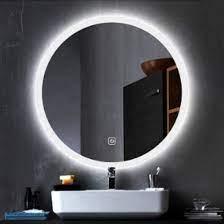 modern oval wall mounted vanity mirror