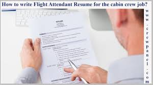 How To Write Flight Attendant Resume For The Cabin Crew Job Position