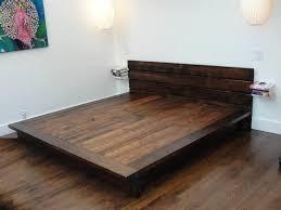 king bed frame wood. DIY King Platform Bed Frame Wood