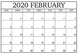 Word 2020 Calendars February 2020 Calendar Printable Template In Pdf Word Excel