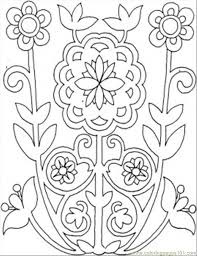 Small Picture printable coloring page flowers from the field other pattern