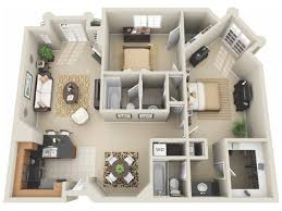 Charming Two Bedroom Floor Plan | Apartments In Los Angeles | The Preston Miracle  Mile
