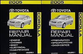 2005 toyota corolla wiring diagram manual original 2005 toyota corolla repair shop manual original 2 volume set 229 00