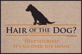 Hair of the Dog funny doormat