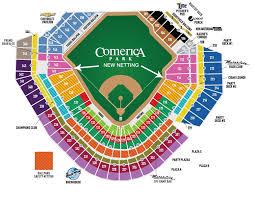 Comerica Field Seating Chart Comerica Park Detroit Tigers Ballpark Ballparks Of Baseball