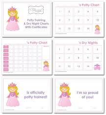 Princess Potty Chart Potty Training Charts