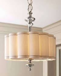 scalloped lamp shades outstanding drum shade chandelier with crystals global views scalloped shade chandelier traditional lamp