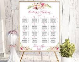 Etsy Wedding Seating Chart Wedding Seating Chart Alphabetical Wedding Seating Chart