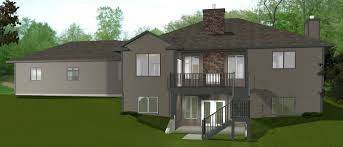 Home Designs Enchanting House Plans With Walkout Basements Ideas - Walk out basement house