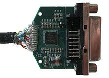 displayport picture of a displayport to dvi adapter after removing its enclosure the chip on the board converts the voltage levels generated by the dual mode