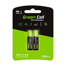 GC® <b>2x</b> AA rechargeable batteries <b>2000mAh</b> HR6 Green Cell - G2A ...