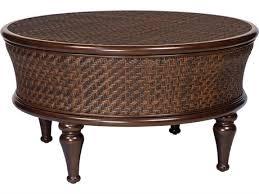 whitecraft north s wicker 42 5 round storage coffee table