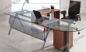office glass tables. Glass Executive Office Desk Tables L