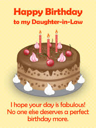 Birthday Cards For Daughter In Law Birthday Greeting Cards By