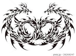 トライバル ドラゴンのイラスト素材 26269247 Pixta