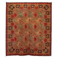 square bessarabian kilim wool rug for