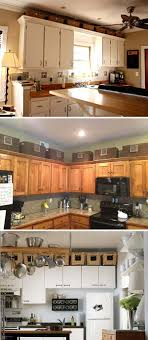 take advane of the extra e between the kitchen cabinets and the ceiling to place some baskets to hold bulk items