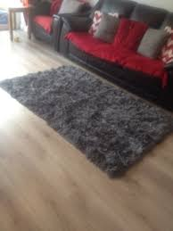 heart of house bliss deep pile gy rug from argos
