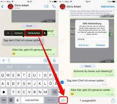 Mehrere, fotos über, whatsApp machen und versenden - connect