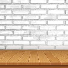 table top background. Vector Wood Table Top On Brick Wall Background | Stock Colourbox