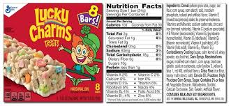 Nutrition Label For Lucky Charms Writings And Essays Corner