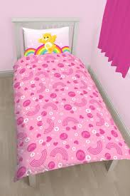 care bears panel print duvet set