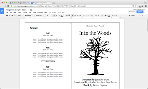 Google Slides Book Template How To Create A Show Program In Google Docs Theaterish
